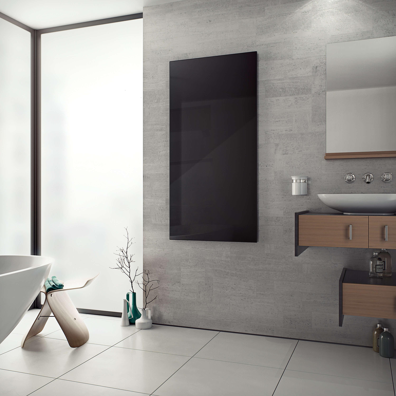 Design Radiator 900 Watt.White Black Glass Infrared Radiator 600 X 900 600 Watts Product Code E41020